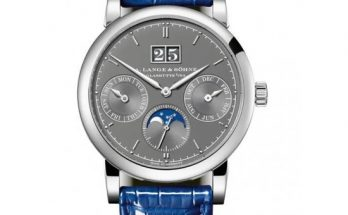 The grey dial fake watch has moon phase.