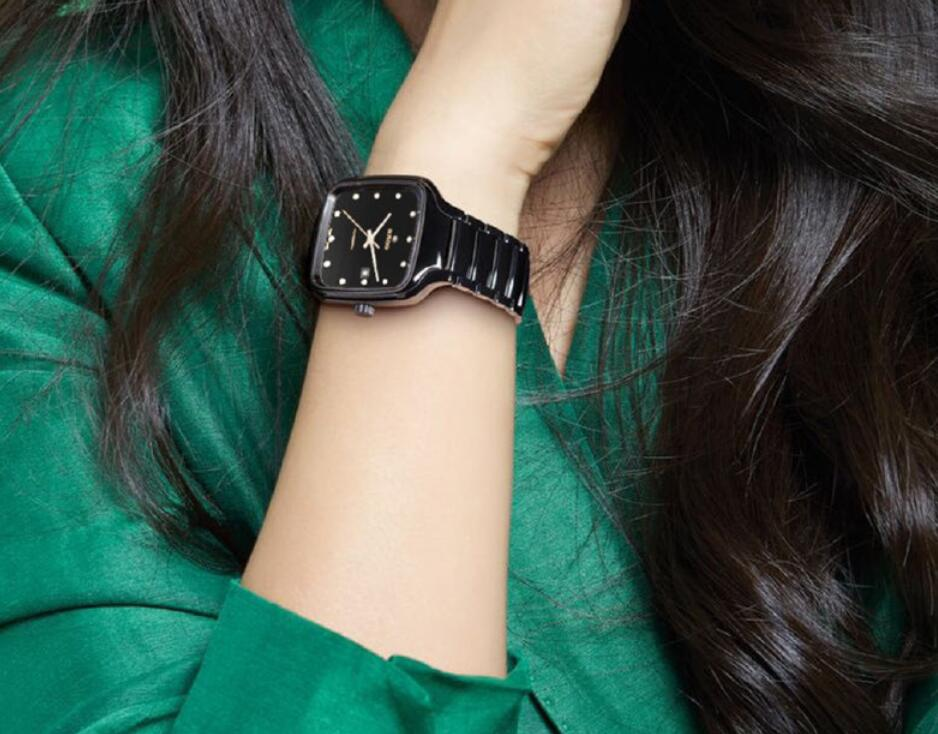 Swiss fake watches are charming with black color.