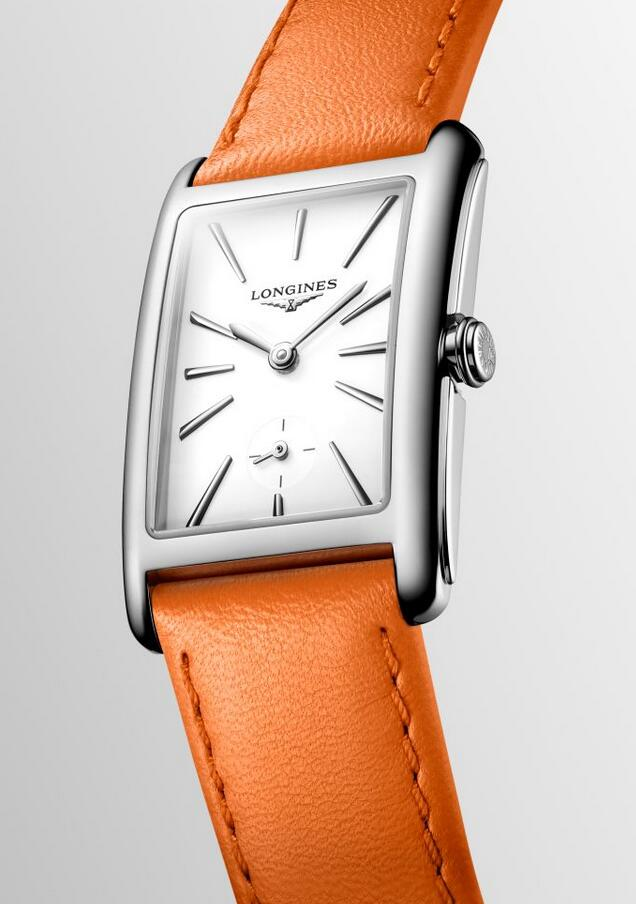 Swiss replica watches show fashion with the orange color.